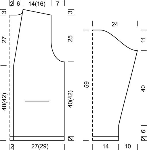 Вязание спицами жакет спицами размер 52