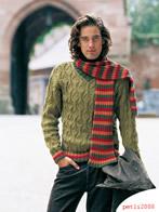 Узорчатый пуловер с V-образным вырезом